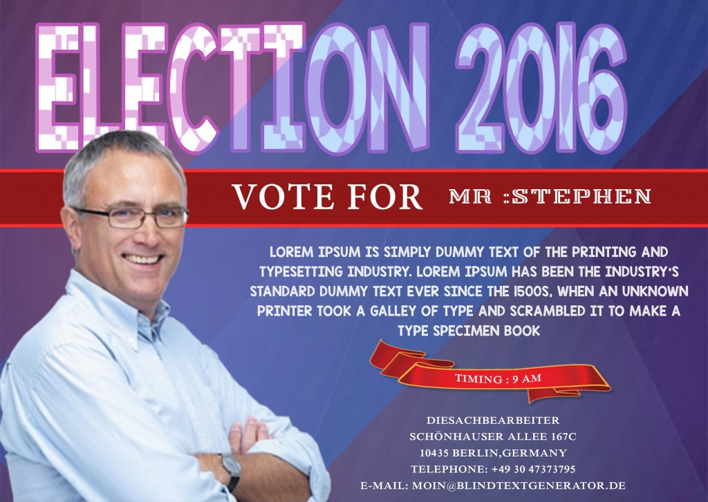 Political Campaign Flyer 13