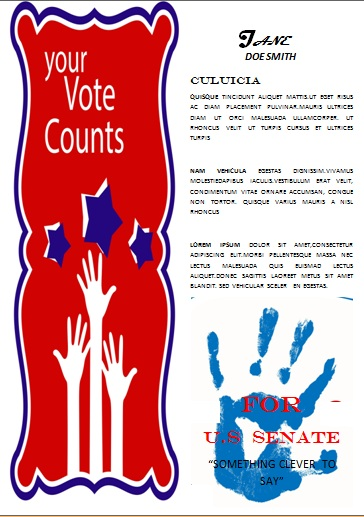Campaign with these elegant free political campaign flyer for Voting flyer templates free