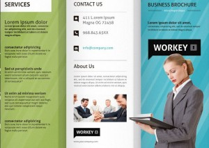 Tri fold brochure template for Software Consulting