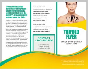 Tri fold brochure template with borders