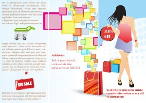 Tri fold fashion brochure template