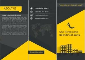 Real estate tri fold brochure template PSD