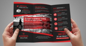 Tri-Fold Flyer Template in PSD