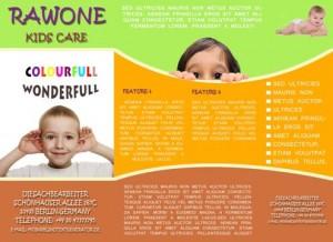 Kids / Pre school tri fold brochure template