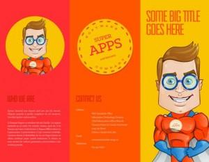Superman Tri fold brochure template