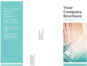 Tri fold brochure template for Corporates