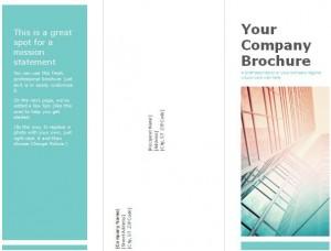 Tri fold brochure template for Corporates