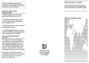 Tri fold brochure template in word