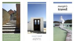 Tri fold travel agency brochure template