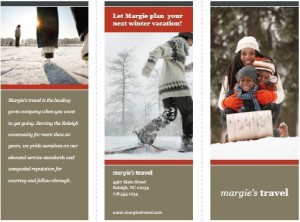 Holidays Tri fold brochure template