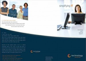 Corporate tri fold brochure template in word