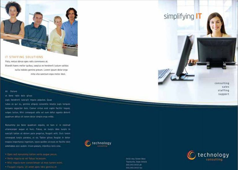 Professional Free Tri Fold Brochure Templates Word PSD - Free tri fold brochure templates for word
