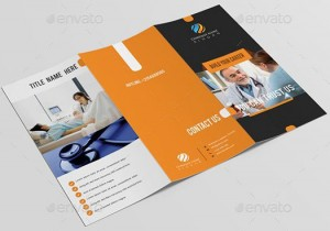 Clinical tri fold brochure template