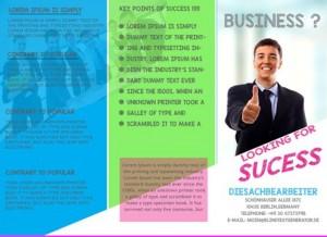 Tri-Fold brochure template for school project
