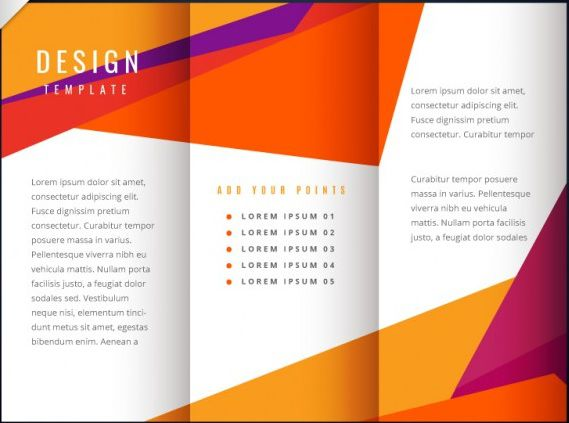 40 professional free tri fold brochure templates word for Brochure folding templates