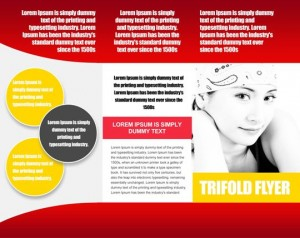 Tri fold flyer template for Personal Freelancing