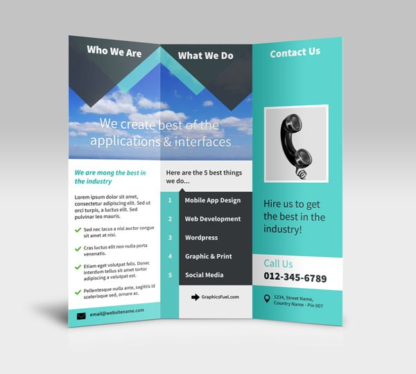 40 professional free tri fold brochure templates word for Photoshop tri fold brochure template