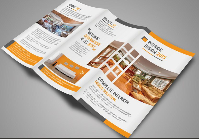 Brochure Interior Design About Furniture ~ Professional free tri fold brochure templates word