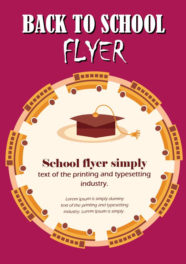 16 Impressive Back To School Flyers In Psd Word Ppt Templates