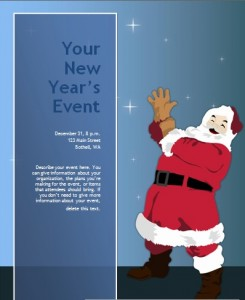 Blue Themed New Year Event Invitation