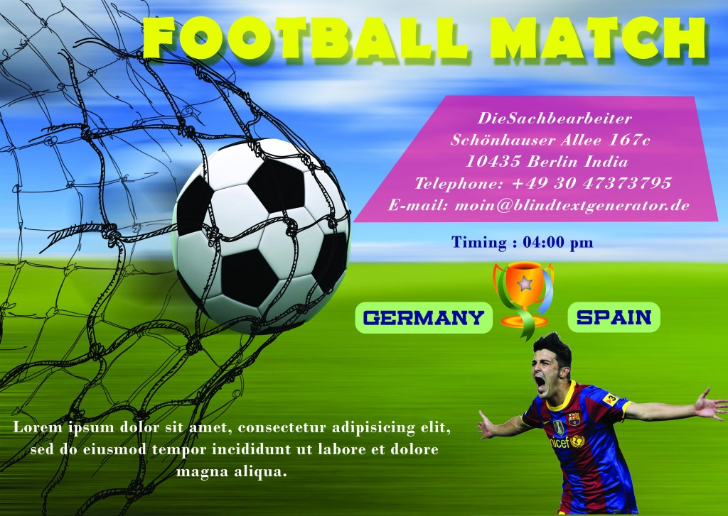 Euro cup football flyer template