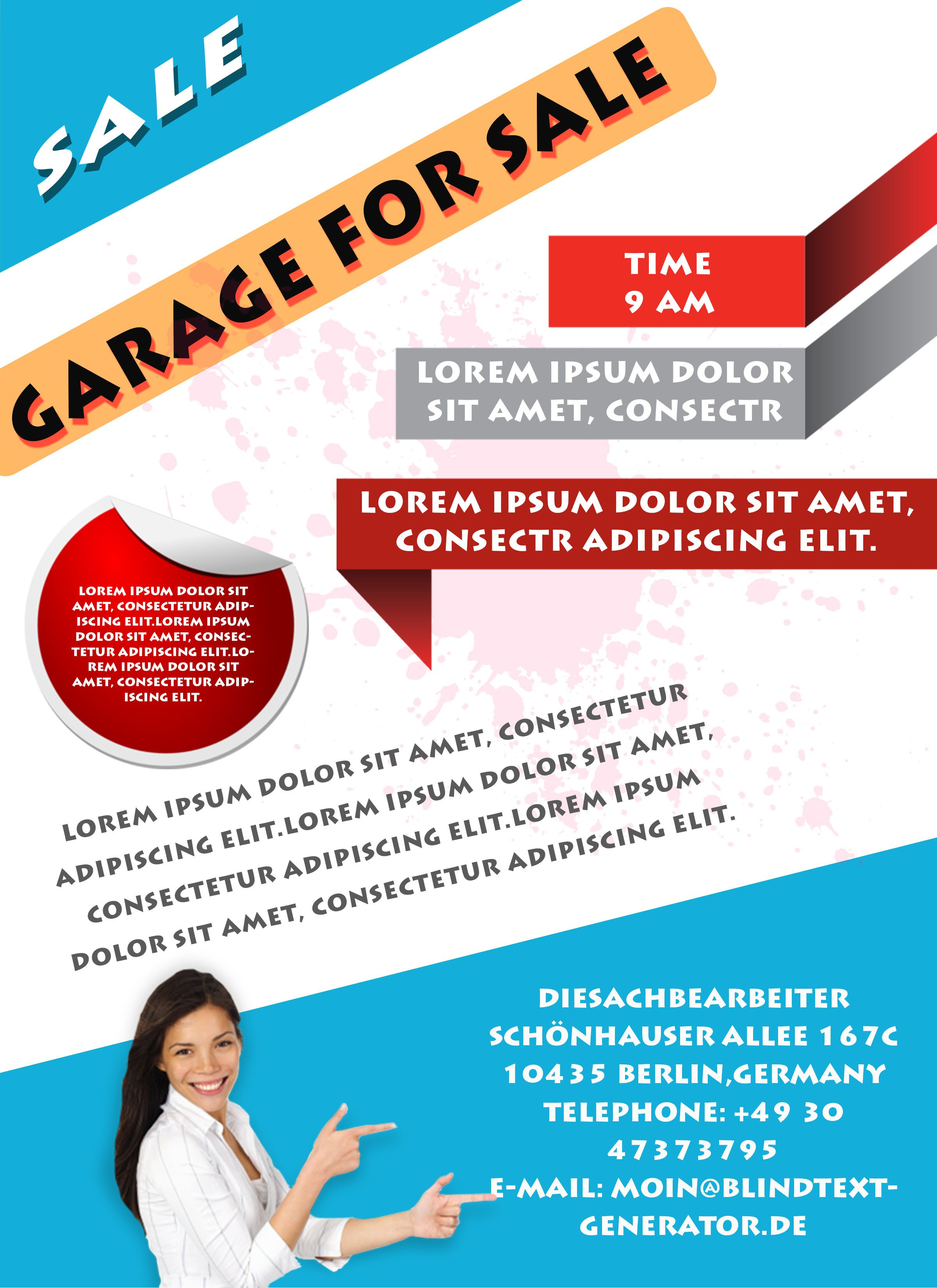 sales brochure templates - free printable garage sale flyers templates attract more