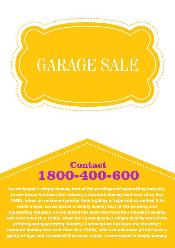 Garage Sale Flyer Template 4