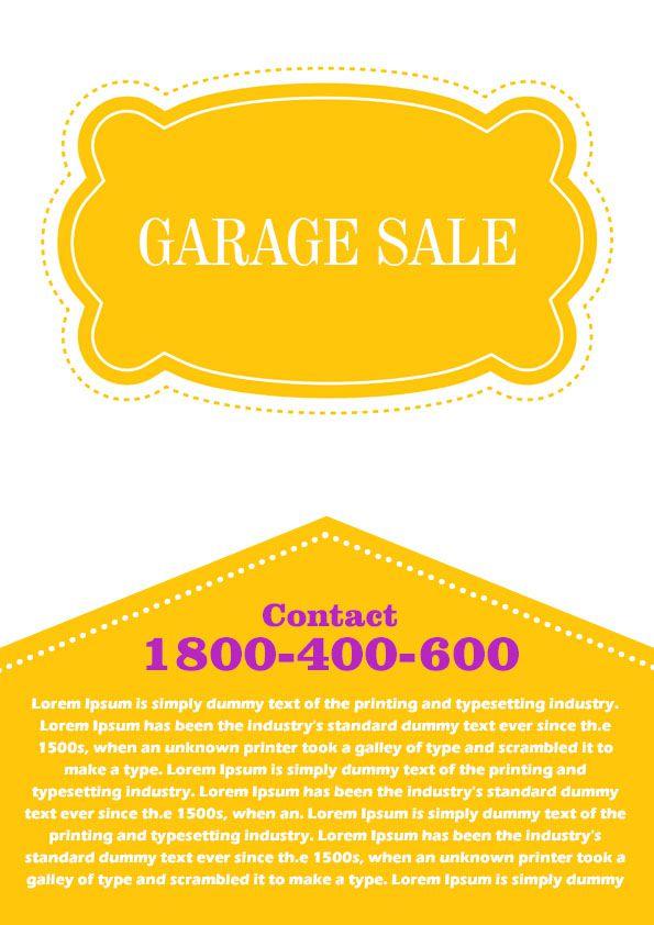 Garage Sale Flyer Template 4