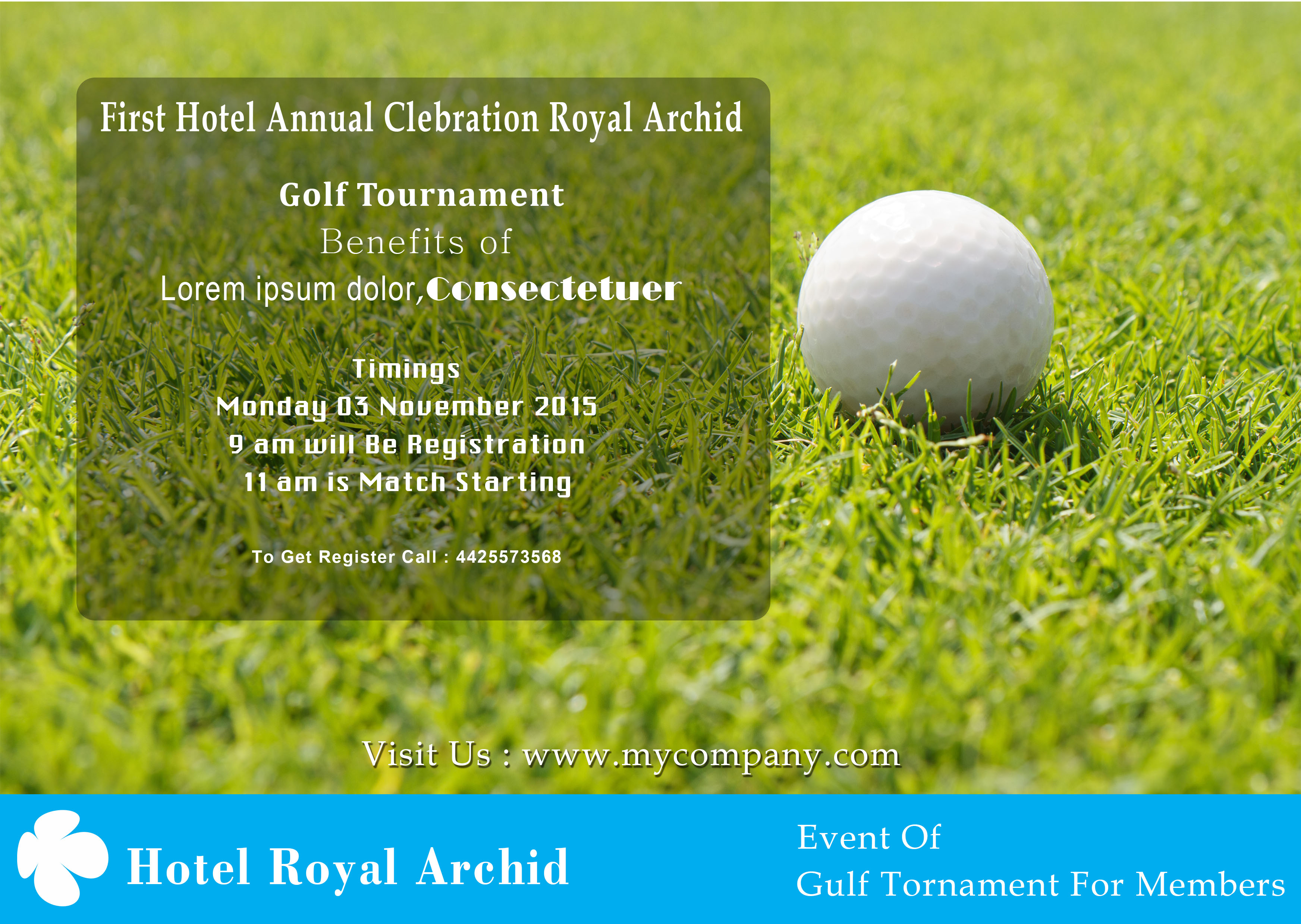 golf tournament flyer template download free