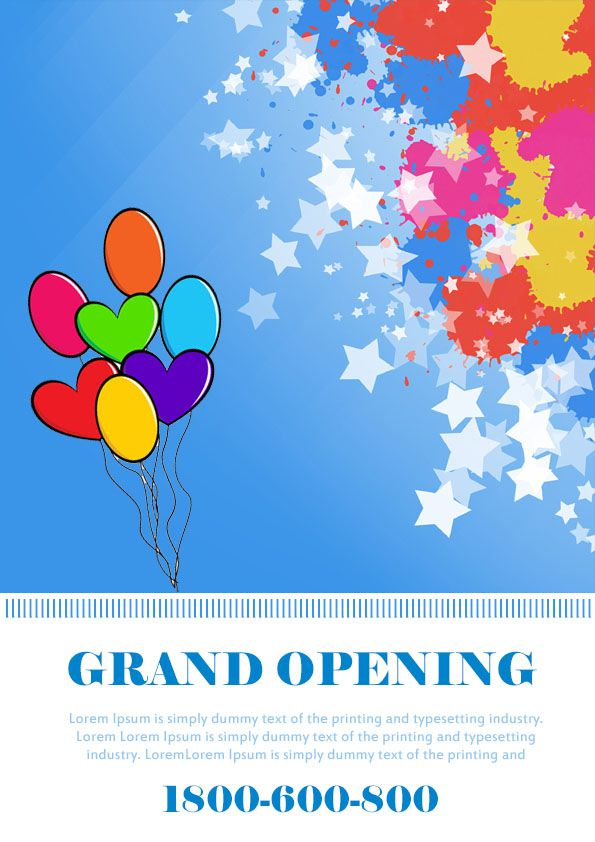 Grand Opening Flyer Template 20