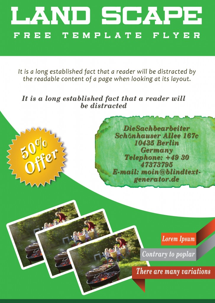 Landscaping Flyer Template 1