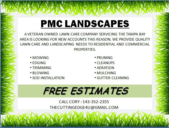 Landscaping flyer template Powerpoint