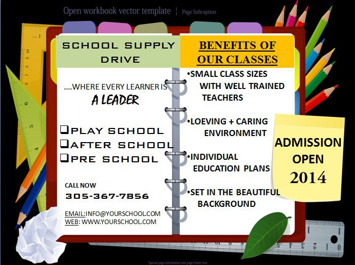 School Flyer Template 10 Ppt