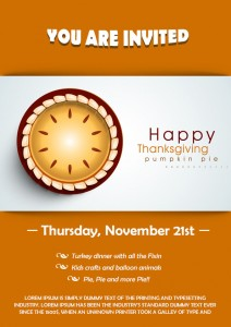Thanksgiving School Flyer