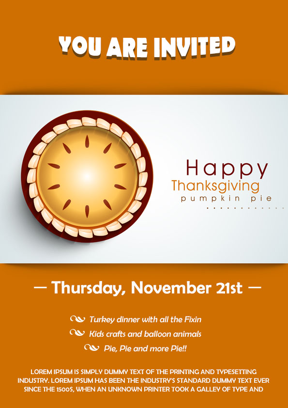 picture about Free Printable Thanksgiving Flyer Templates named 23 Totally free Thanksgiving Flyers : PSD, Term Templates - Demplates