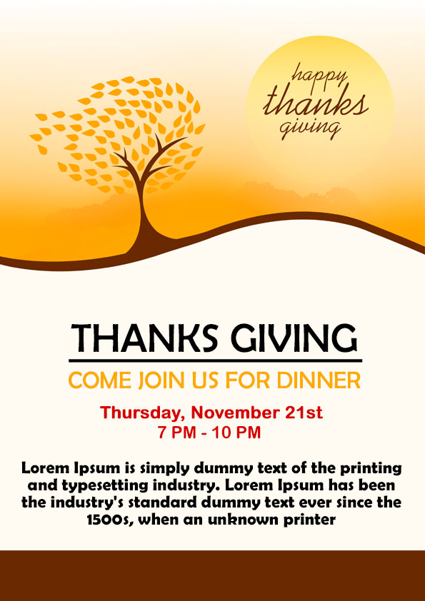 23 Free Thanksgiving Flyers PSD WORD Templates Demplates – Sponsorship Flyer Template