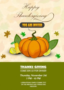 Thanksgiving Themed Flyer Template