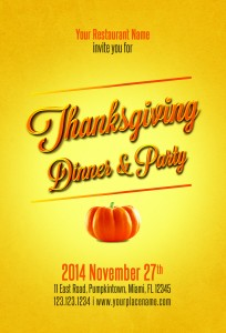 Thanksgiving Flyer Template Free
