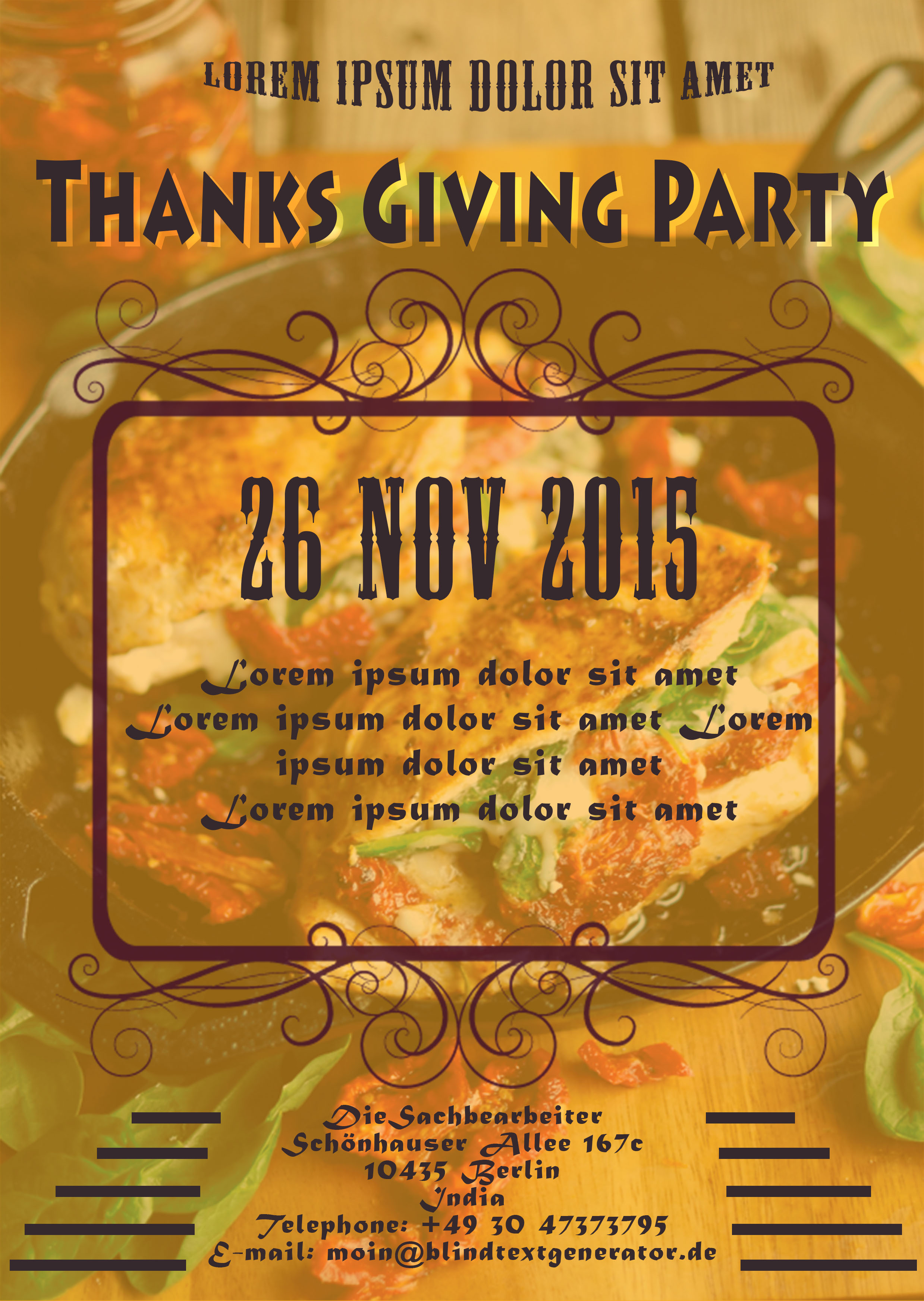 23 thanksgiving flyers psd word templates demplates thanksgiving party flyer template