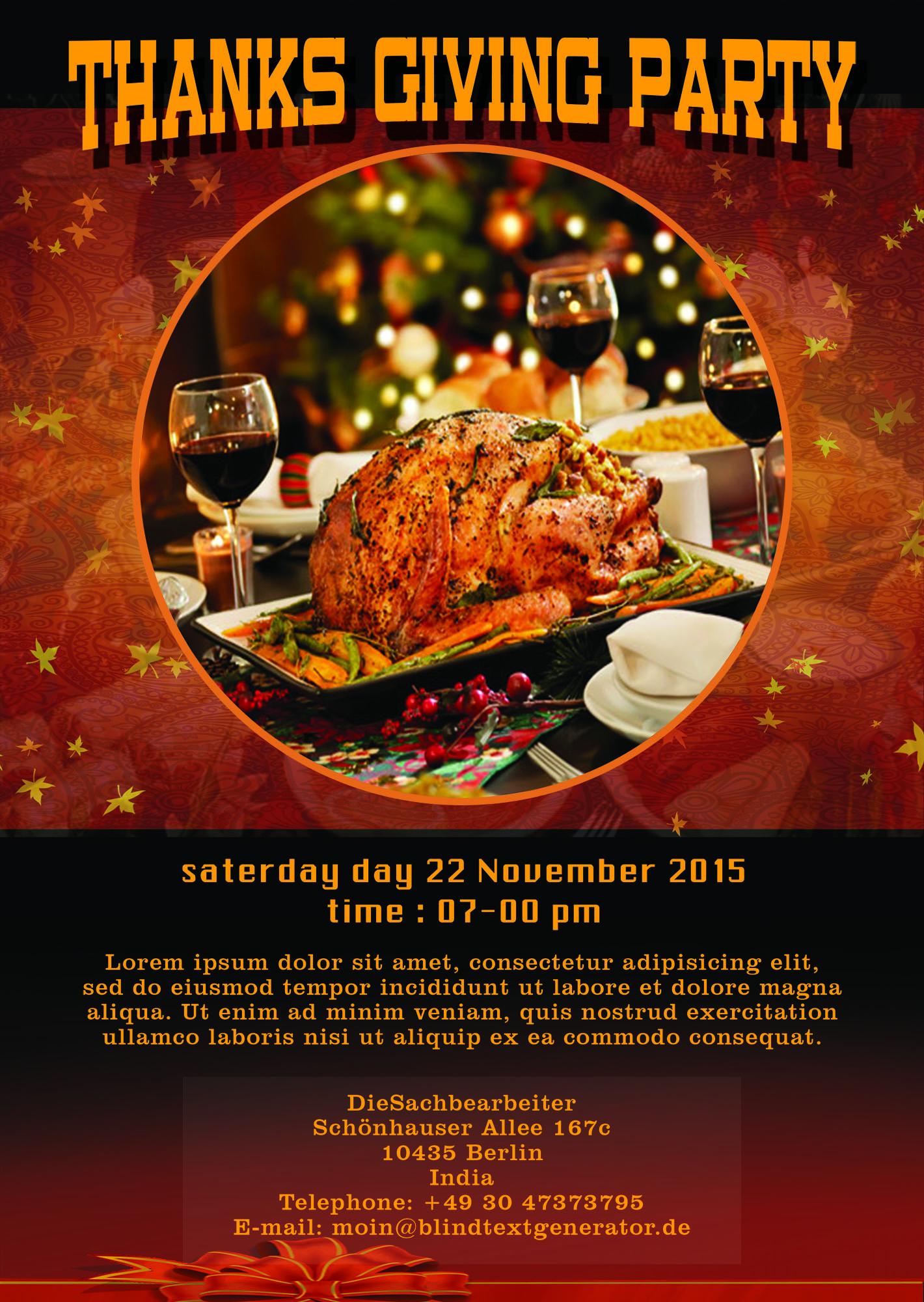 Free Thanksgiving Flyer Demirediffusion