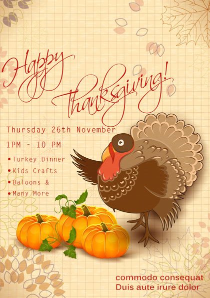 23 free thanksgiving flyers psd word templates demplates thanksgiving sale flyer maxwellsz