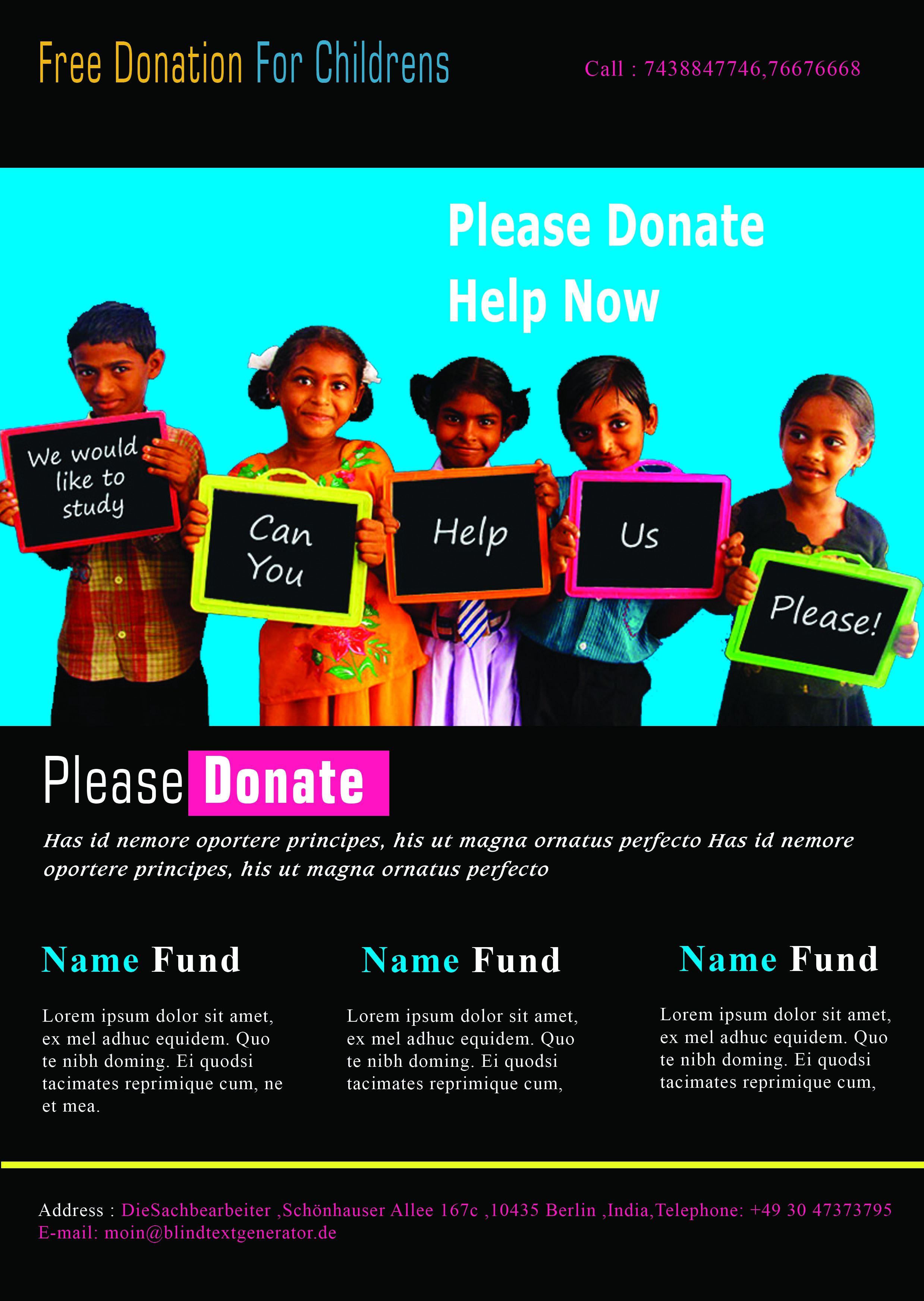 12 Adorable Donation Flyers for Your Fundraising Events - Demplates