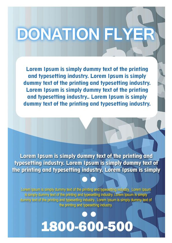 12 Adorable Donation Flyers For Your Fundraising Events Demplates