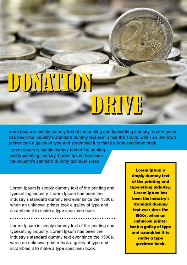 donation flyer samples