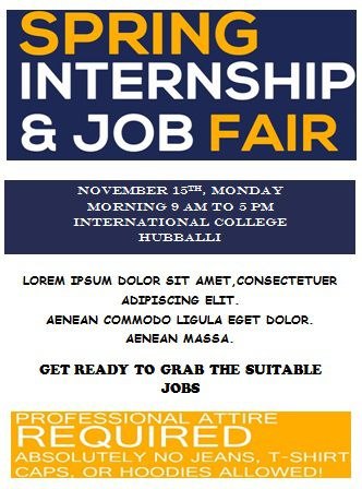 Sample of internship flyers erkalnathandedecker 10 convincing job fair flyers in word psd templates demplates maxwellsz