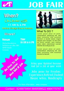 Career Fair Company Flyer