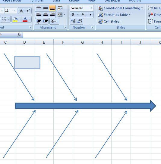 creating fishbone diagram template excel 8