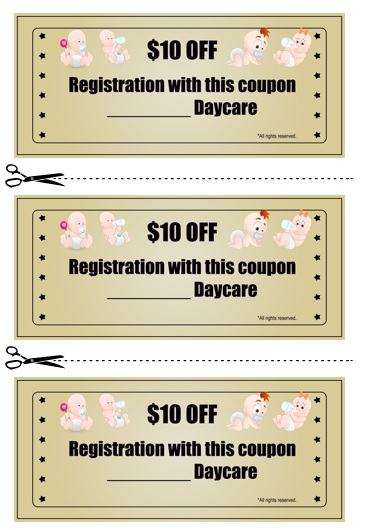 Babysitting Coupon Book Template 10