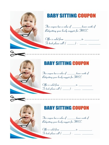 Babysitting Coupon Book Template 12