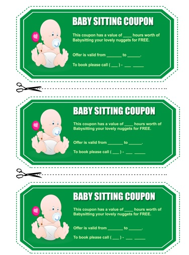 Babysitting Coupon Book Template 14